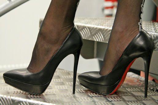 Lack Stiletto Heel Peep Toe Shoes